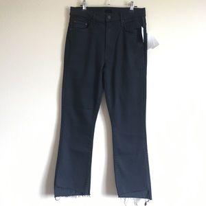 MOTHER Insider Crop Step Fray Black Jeans 30
